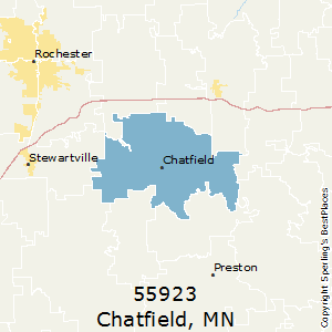 Chatfield,Minnesota County Map