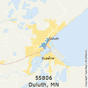Duluth,Minnesota(55806) Zip Code Map