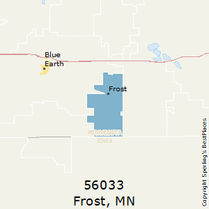 frost,minnesota county map