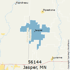 Jasper,Minnesota County Map