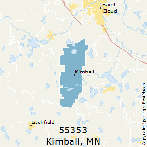 Kimball,Minnesota County Map
