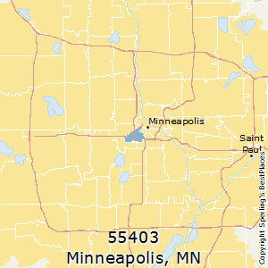 Minneapolis,Minnesota(55403) Zip Code Map