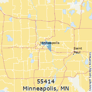Minneapolis,Minnesota County Map