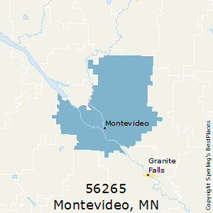 Montevideo,Minnesota County Map