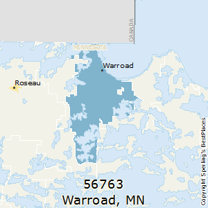 Warroad,Minnesota County Map