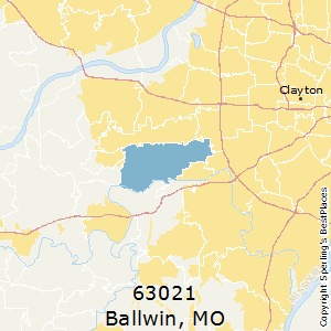 Ballwin,Missouri(63021) Zip Code Map
