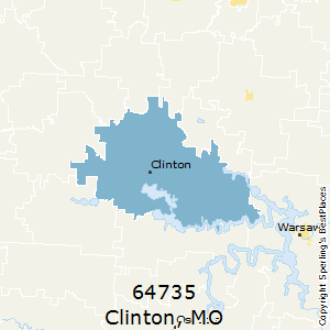 Clinton,Missouri County Map