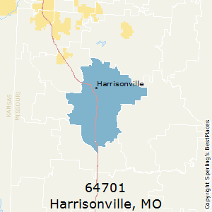 Harrisonville,Missouri(64701) Zip Code Map