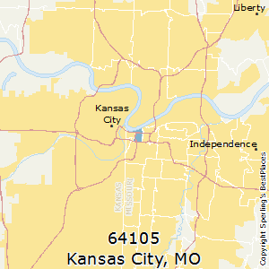 Kansas_City,Missouri(64105) Zip Code Map