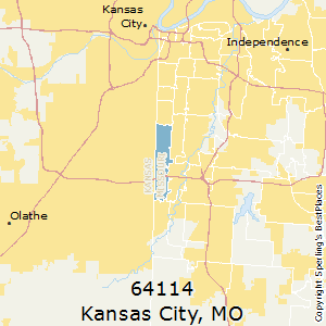 Kansas_City,Missouri(64114) Zip Code Map