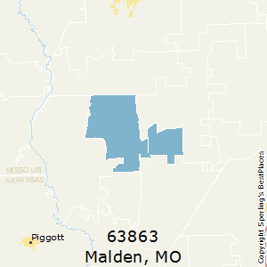 Malden,Missouri County Map
