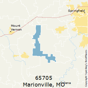 Marionville,Missouri County Map