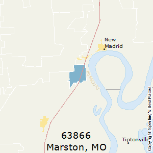 Marston,Missouri County Map