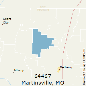 Martinsville,Missouri County Map