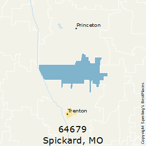 Spickard,Missouri(64679) Zip Code Map