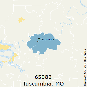 Tuscumbia,Missouri(65082) Zip Code Map