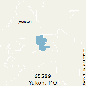 Yukon,Missouri County Map