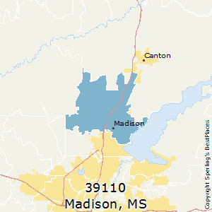 Madison,Mississippi County Map