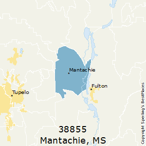 Mantachie,Mississippi County Map