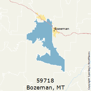 Bozeman,Montana County Map