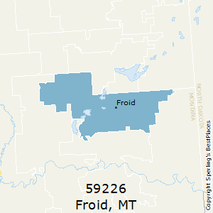 Froid,Montana County Map