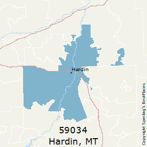 Hardin,Montana County Map
