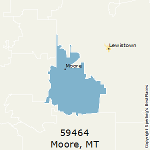 Moore,Montana County Map