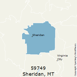 Sheridan,Montana County Map