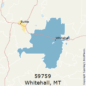 Whitehall,Montana County Map
