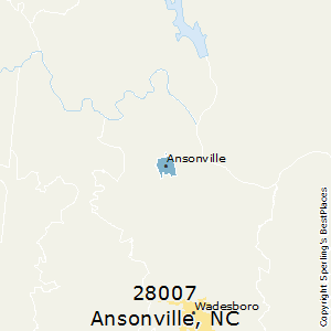 Ansonville,North Carolina County Map