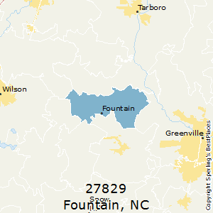 Fountain,North Carolina County Map