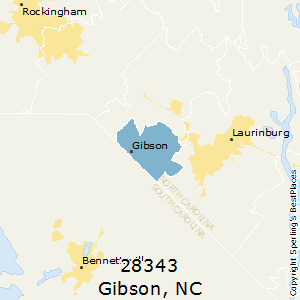 Gibson,North Carolina County Map