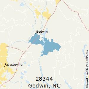 Godwin,North Carolina(28344) Zip Code Map