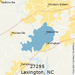 Lexington,North Carolina County Map