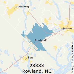Rowland nc zip code