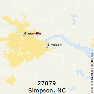 Simpson,North Carolina County Map