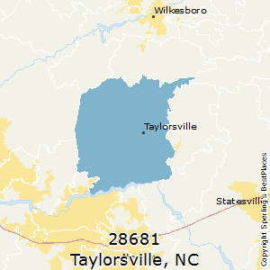 Taylorsville,North Carolina County Map