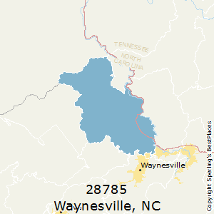 Waynesville,North Carolina County Map