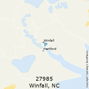 Winfall,North Carolina County Map
