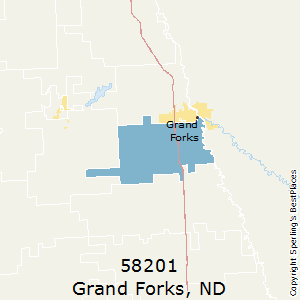 Grand_Forks,North Dakota(58201) Zip Code Map