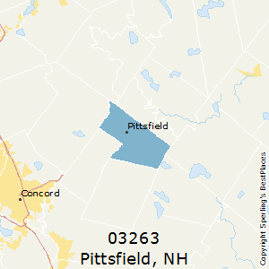 Pittsfield,New Hampshire County Map