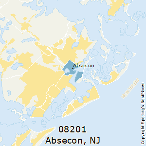 Absecon,New Jersey County Map