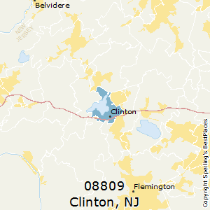 Clinton,New Jersey County Map