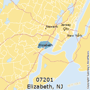 Jersey City Nj Zip Code Map.Best Places To Live In Elizabeth Zip 07201 New Jersey