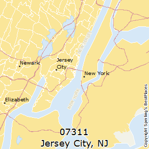 Jersey_City,New Jersey County Map