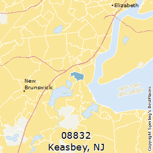 Keasbey,New Jersey County Map