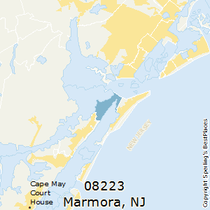 Marmora,New Jersey County Map