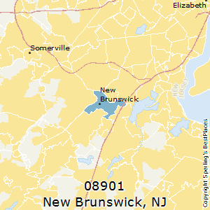 New_Brunswick,New Jersey County Map
