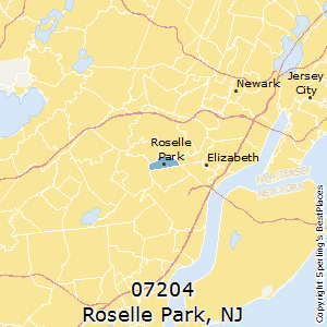 Roselle_Park,New Jersey County Map