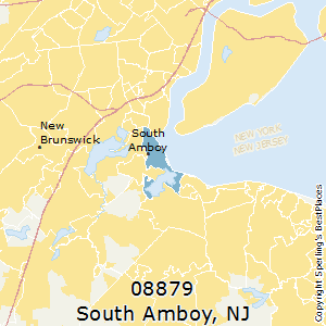 South_Amboy,New Jersey County Map